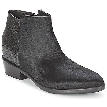 Sapatos Mulher Botas baixas Alberto Gozzi PONY NERO Preto