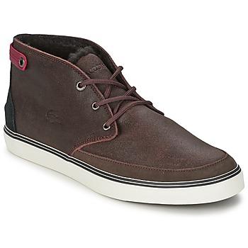 Sapatos Homem Sapatilhas de cano-alto Lacoste CLAVEL 17 Castanho