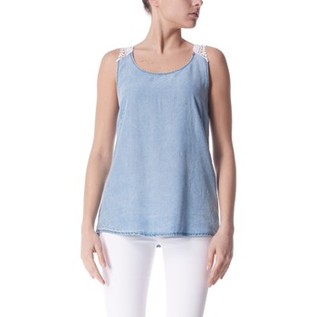 Textil Mulher Tops sem mangas Gas Top Lauryn Azul