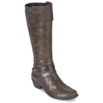 Sapatos Mulher Botas Dorking NINA Cinza
