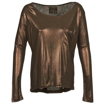 Textil Mulher T-shirt mangas compridas Chipie NINON Dourado
