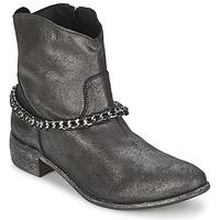 Sapatos Mulher Botas baixas Meline VUTIO Preto / Metalizado