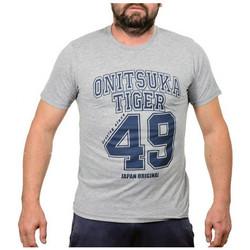 Textil Homem T-Shirt mangas curtas Onitsuka Tiger  Cinza