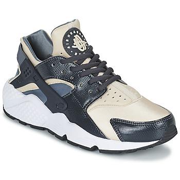 Sapatos Mulher Sapatilhas Nike AIR HUARACHE RUN W Cinza / Bege
