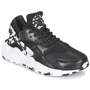 Sapatos Mulher Sapatilhas Nike AIR HUARACHE RUN SE W Preto / Branco