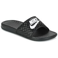 Sapatos Mulher chinelos Nike BENASSI JUST DO IT W Preto / Branco