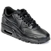 Sapatos Rapaz Sapatilhas Nike AIR MAX 90 LEATHER GRADE SCHOOL Preto