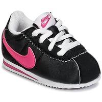 Sapatos Rapariga Sapatilhas Nike CORTEZ NYLON TODDLER Preto / Rosa