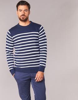 Textil Homem camisolas Casual Attitude FARCIELLE Marinho / Branco