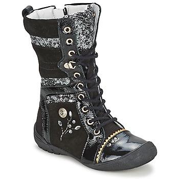Sapatos Rapariga Botas baixas Catimini CYLENE Preto brillante