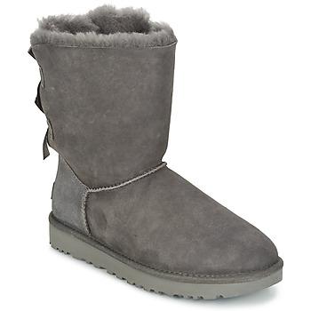 Sapatos Mulher Botas baixas UGG BAILEY BOW II Cinza
