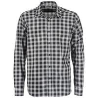 Textil Homem Camisas mangas comprida Yurban FLENOTE Preto / Branco