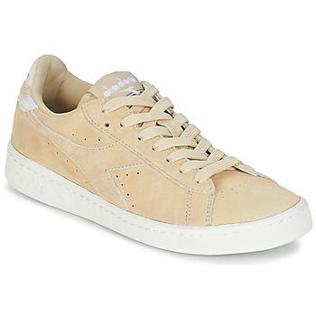Sapatos Mulher Sapatilhas Diadora GAME LOW SUEDE Bege