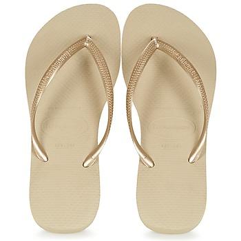 Sapatos Mulher Chinelos Havaianas SLIM Dourado