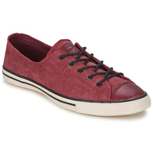 Sapatos Mulher Sapatilhas Converse Chuck Taylor All Star FANCY LEATHER OX Bordô