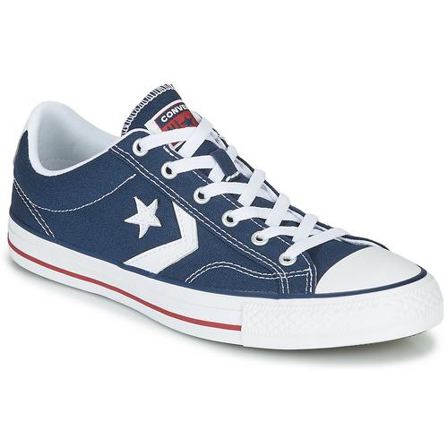 Sapatos Sapatilhas Converse STAR PLAYER CORE CANVAS OX Marinho / Branco
