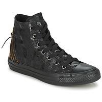 Sapatos Mulher Sapatilhas de cano-alto Converse CT ANIM TRI ZIP Preto / Dourado