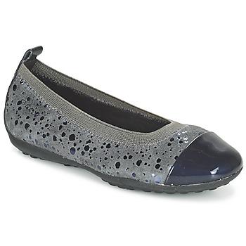 Sapatos Rapariga Sabrinas Geox JR PIUMA BALLERINE Cinza / Escuro