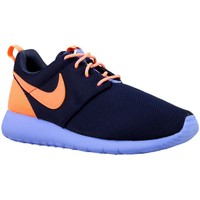 Sapatos Rapaz Sapatilhas Nike Roshe One GS Cor de laranja,Azul marinho