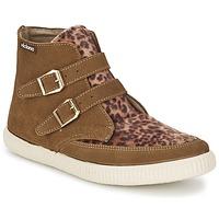 Sapatos Mulher Sapatilhas de cano-alto Victoria 16706 Castanho