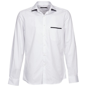 Textil Homem Camisas mangas comprida Pierre Cardin ANTOINE Branco