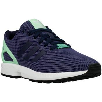 Sapatos Mulher Sapatilhas adidas Originals ZX Flux W Light Flash Green Azul marinho, Verde claro