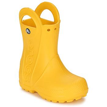Sapatos Criança Botas de borracha Crocs HANDLE IT RAIN BOOT KIDS Amarelo
