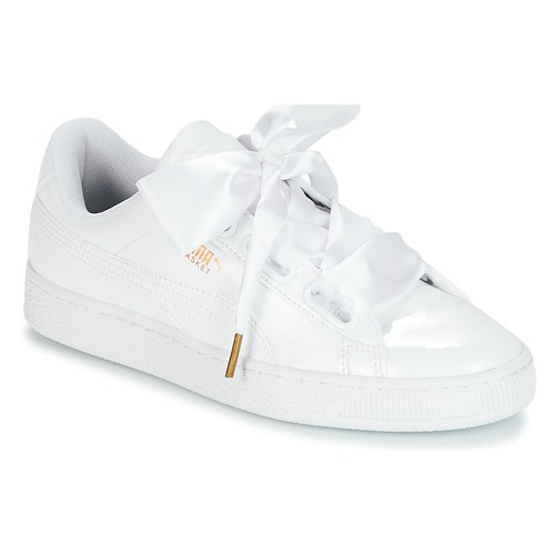 Sapatos Mulher Sapatilhas Puma BASKET HEART PATENT WN'S Branco