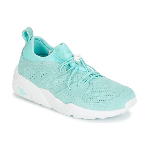 Puma BLAZE OF GLORY SOFT WNS Azul / Branco - Entrega gratuita  - Sapatos Sapatilhas Mulher 9040