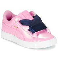 Sapatos Rapariga Sapatilhas Puma BASKET HEART PATENT PS Rosa / Marinho