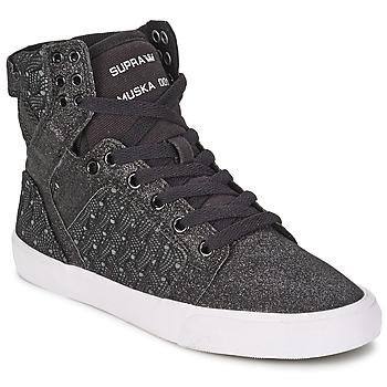 Sapatos Mulher Sapatilhas de cano-alto Supra SKYTOP Preto / Branco