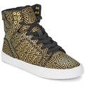 Sapatos Mulher Sapatilhas de cano-alto Supra SKYTOP Dourado / Preto