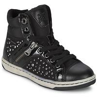 Sapatos Rapariga Sapatilhas de cano-alto Geox CREAMY C Preto