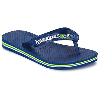 Sapatos Rapaz Chinelos Havaianas BRASIL LOGO Marinho