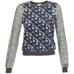 Textil Mulher Sweats Manoush MOSAIQUE Cinza / Preto / Azul