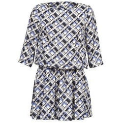 Textil Mulher Vestidos curtos Manoush MOSAIQUE Cinza / Preto