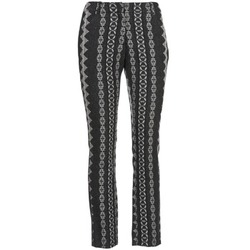 Textil Mulher Calças Manoush TAILLEUR Cinza / Preto