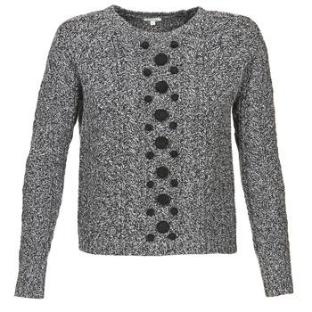 Textil Mulher camisolas Manoush TORSADE Cinza / Preto