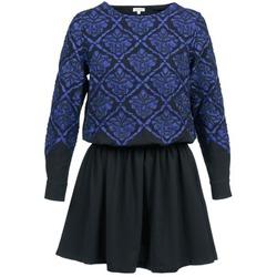 Textil Mulher Vestidos curtos Manoush GIRANDOLINE Preto / Azul