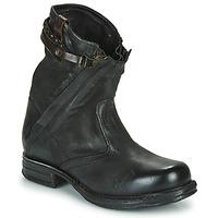 Sapatos Mulher Botas baixas Airstep / A.S.98 SAINT METAL ZIP Preto