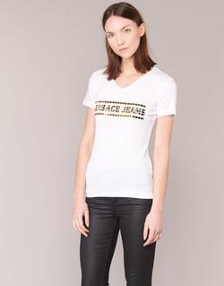 Textil Mulher T-Shirt mangas curtas Versace Jeans B2HPA7GC Branco