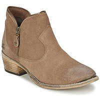 Sapatos Mulher Botas baixas Le Temps des Cerises GRACE Areia