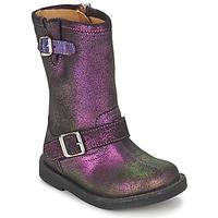 Sapatos Rapariga Botas Pom d'Api HIKE BIKER Violeta