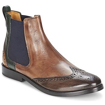 Sapatos Mulher Botas baixas Melvin & Hamilton AMÉLIE 5 Castanho / Verde / Amarelo