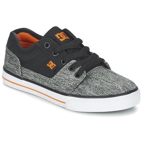 Sapatos Rapaz Sapatilhas DC Shoes TONIK TX SE B SHOE BGY Preto / Cinza / Laranja