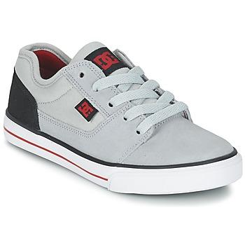 Sapatos Rapaz Sapatilhas DC Shoes TONIK B SHOE XSKR Cinza / Preto / Vermelho