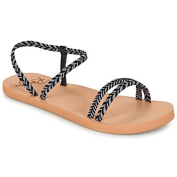 Sapatos Mulher Chinelos Roxy LUANA J SNDL BLK Preto