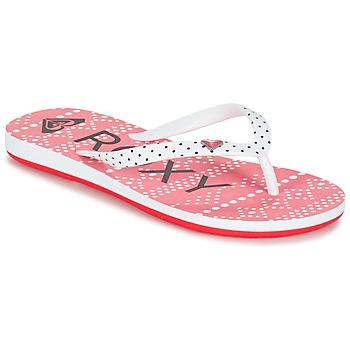 Sapatos Rapariga Chinelos Roxy RG PEBBLES V G SNDL BRE Vermelho / Branco / Preto