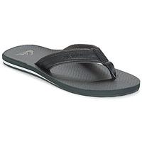 Sapatos Homem Chinelos Quiksilver CARVER NUBUCK Preto / Cinza