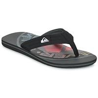Sapatos Homem Chinelos Quiksilver MOLOKAI LAYBACK Preto / Vermelho